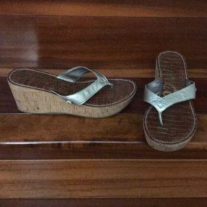 Wedge silver Sam Edelman sandals